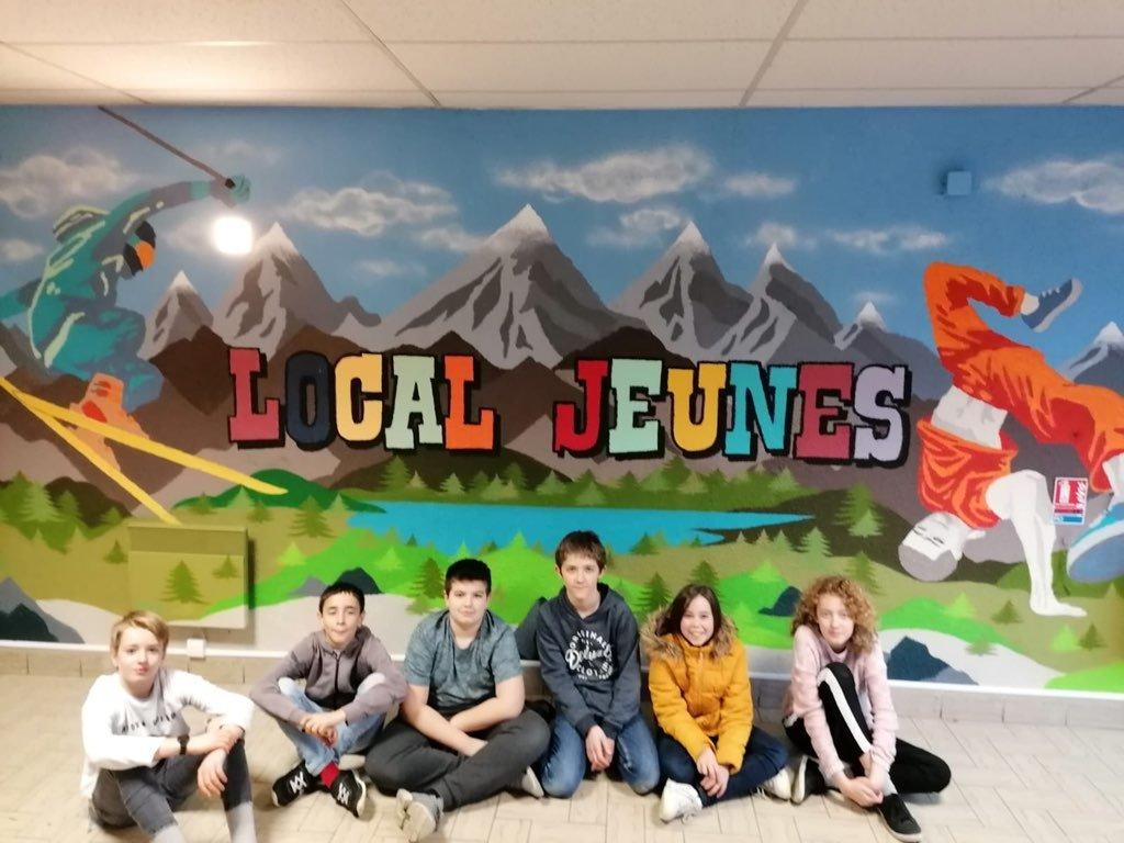 Une fresque pour le local jeunes