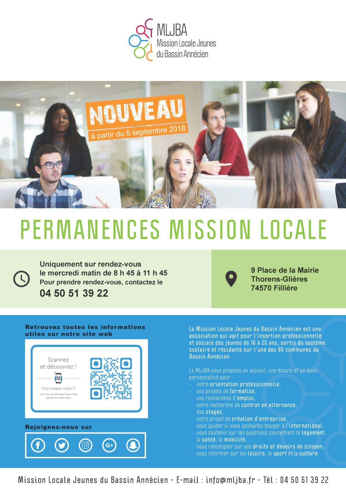 Nouveau : permanences de la Mission Locale Jeunes
