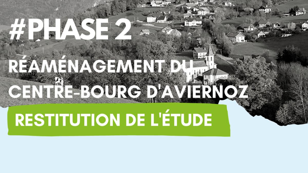 Réaménagement du centre bourg d'Aviernoz : restitution de l'étude le 21 mai