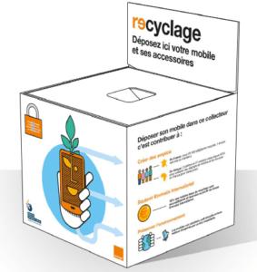 Boite recyclage terminaux mobiles